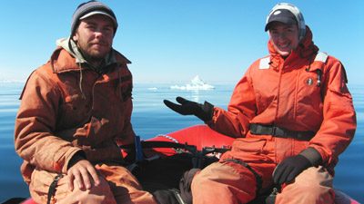 The ice in the Litke strait, June 7